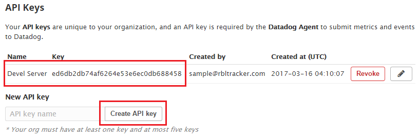 Add a Datadog API Key